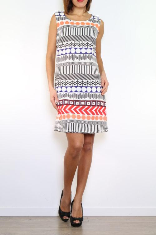 Kuviollinen mekko 00002 etu