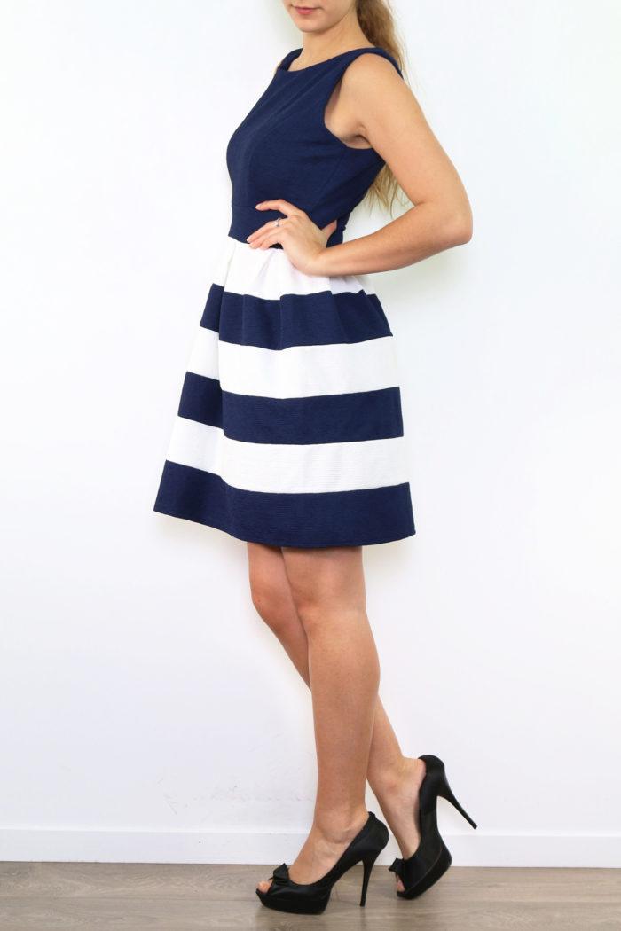 Sini-valkoraidallinen mekko 00004 sivu