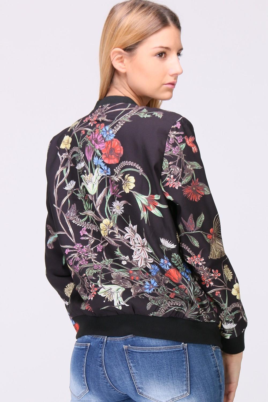Kukkakuvioitu bomber-jakku 00024 taka