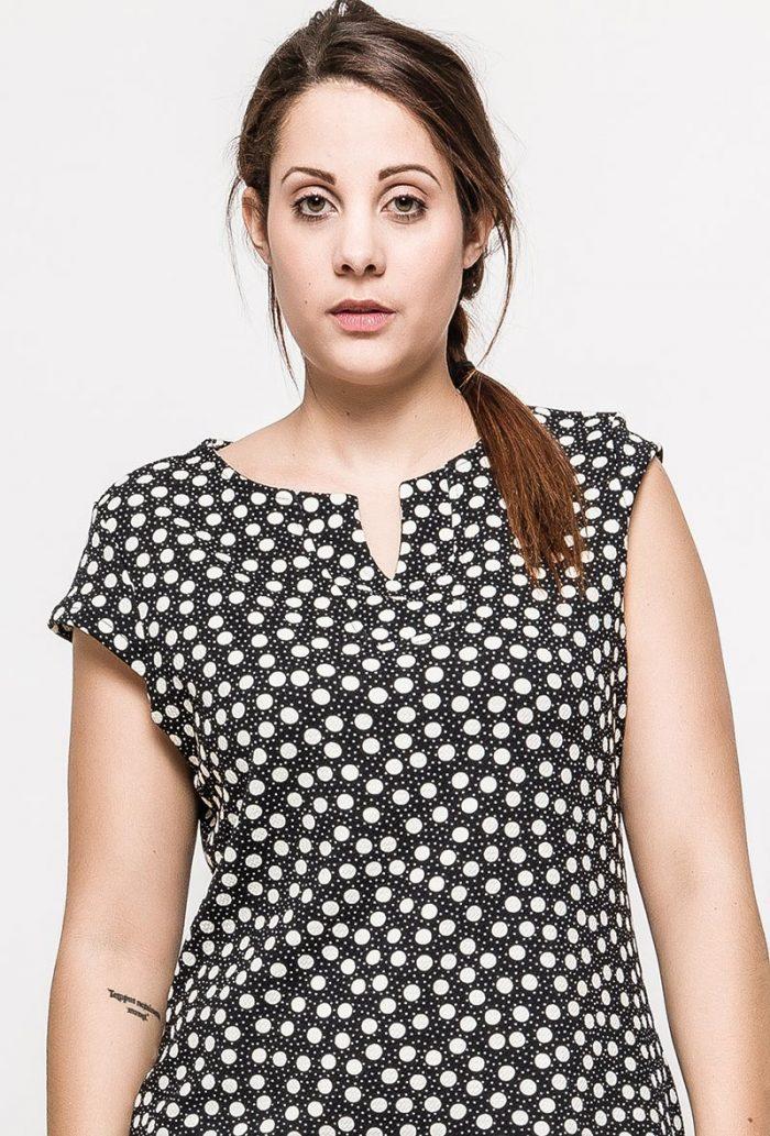 Mustavalkoinen mekko 00079 etu