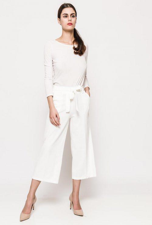 Valkoiset culotte-housut 00069 etu