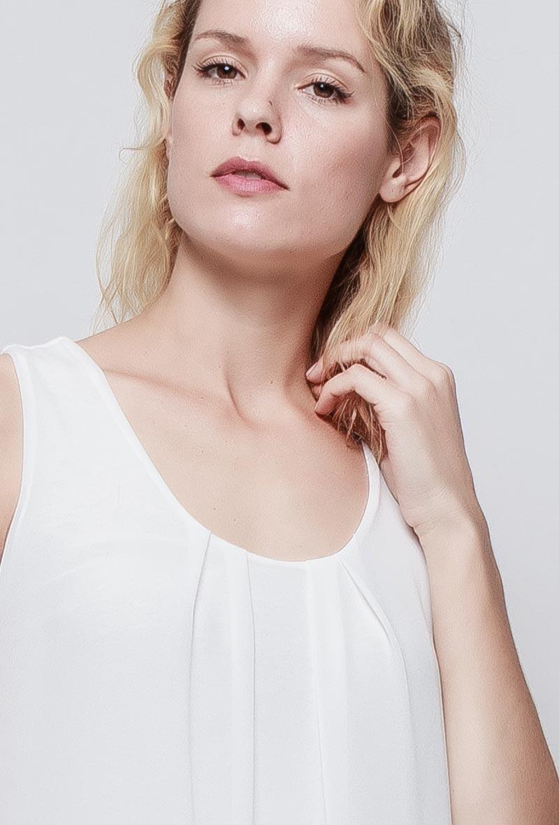 Valkoinen tunikamekko 00078 etu