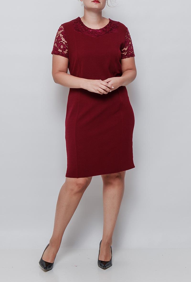 Viininpunainen mekko 00081 etu