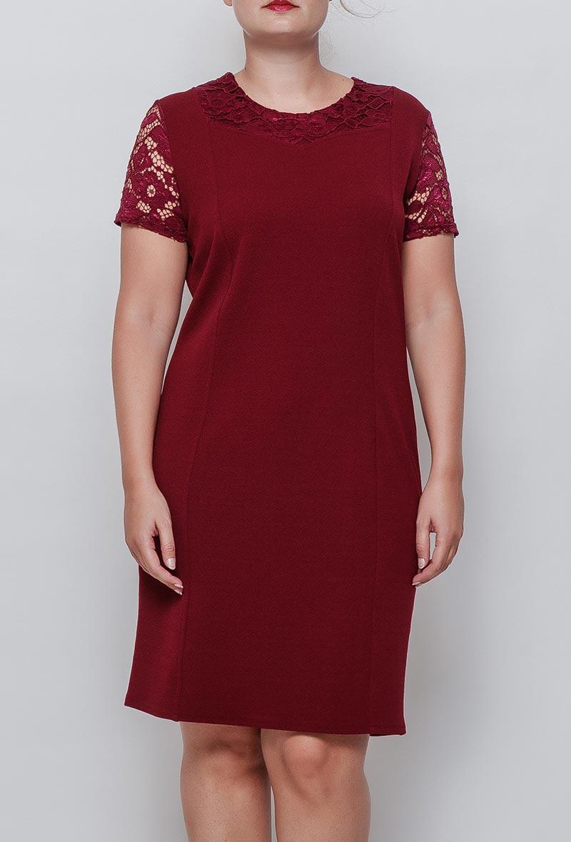 Viininpunainen mekko 00081 etu2