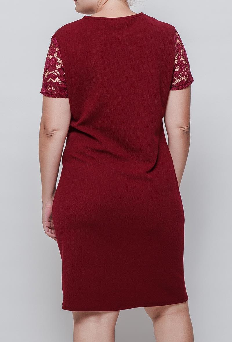 Viininpunainen mekko 00081 taka