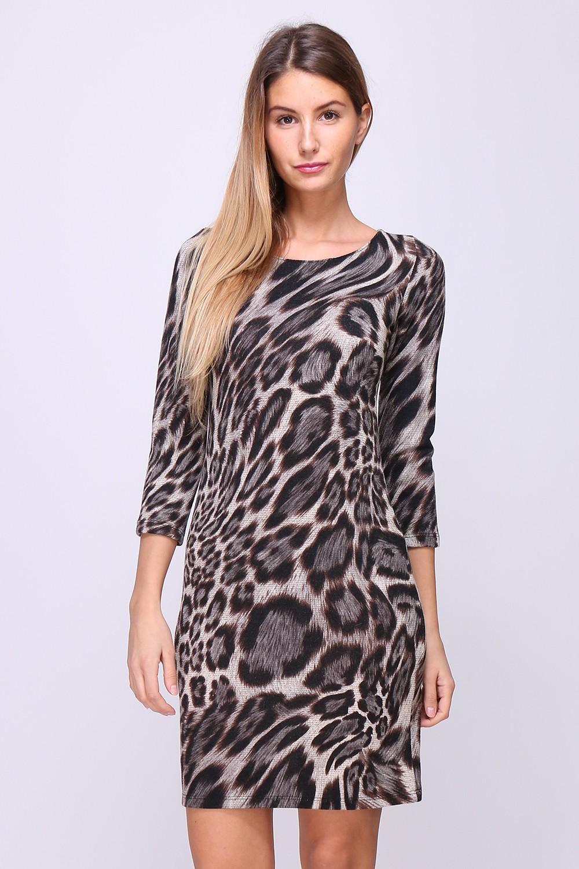 00135 Leopardikuvioinen tunikamekko etu