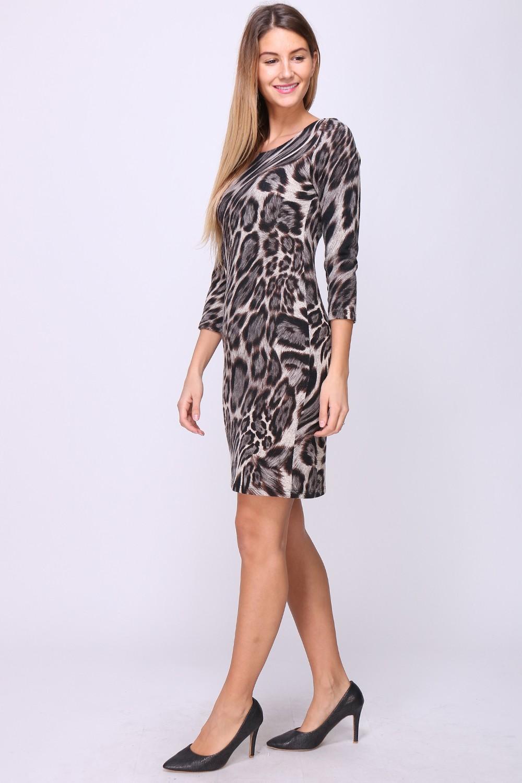 00135 Leopardikuvioinen tunikamekko koko