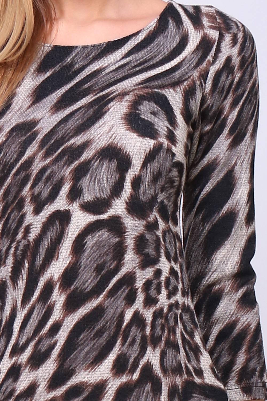 00135 Leopardikuvioinen tunikamekko lähi