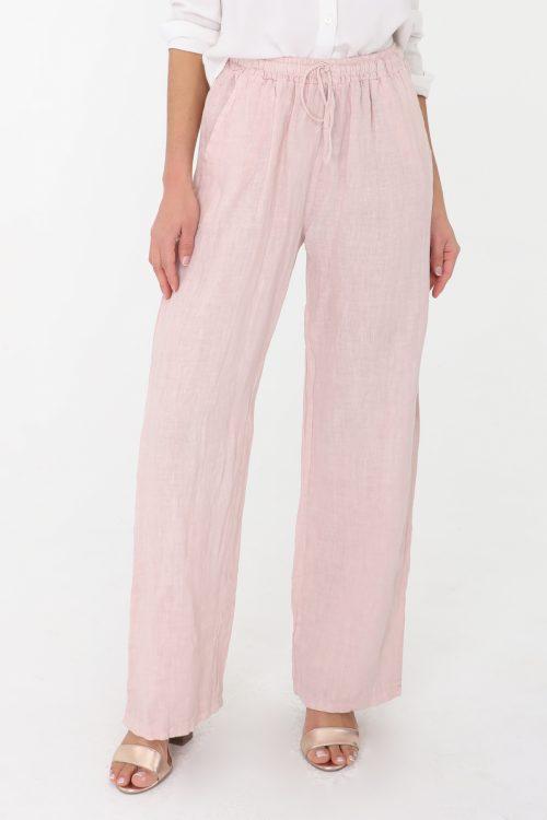 Vaaleanpunaiset pellavahousut 00162