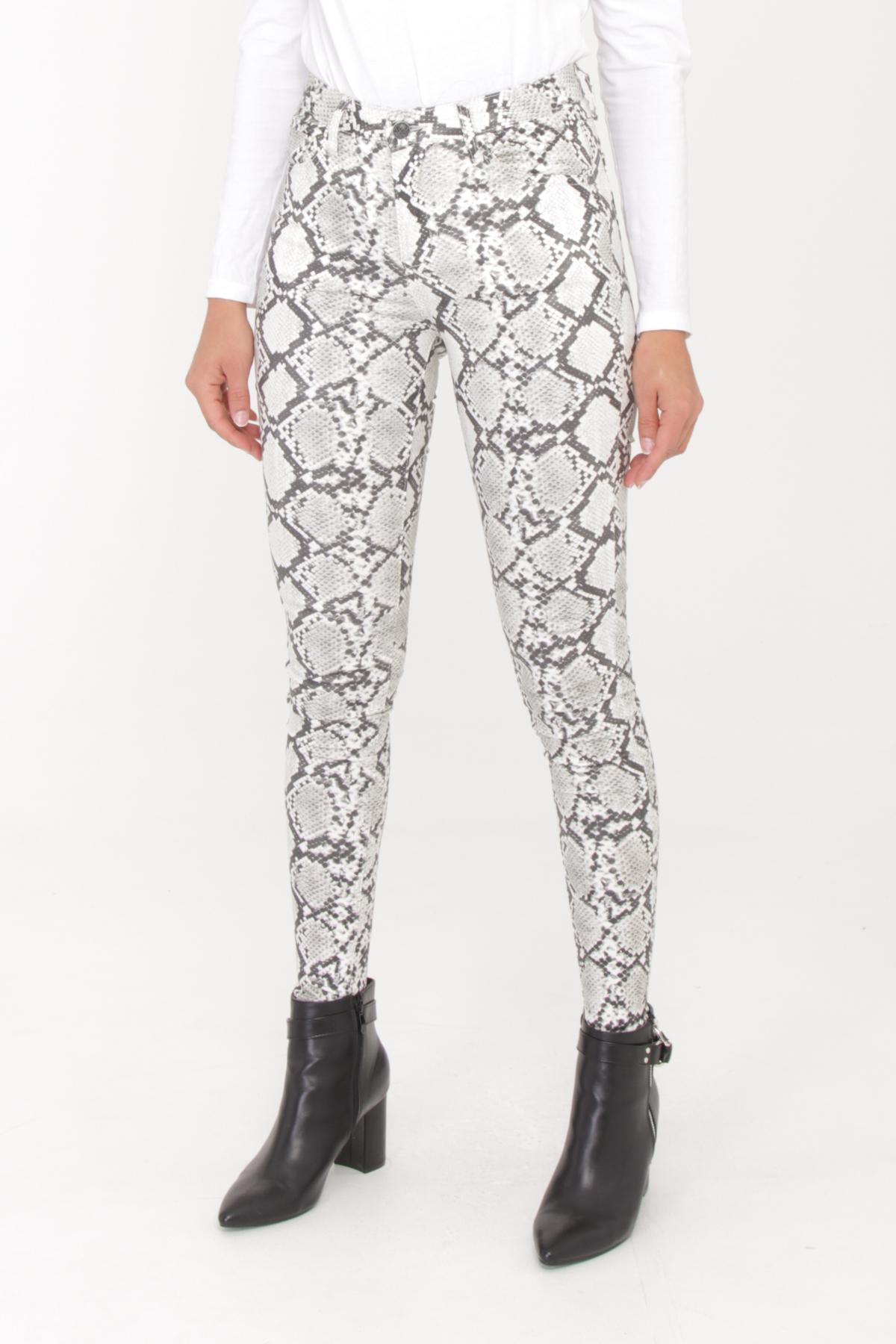 Käärmekuvioiset housut