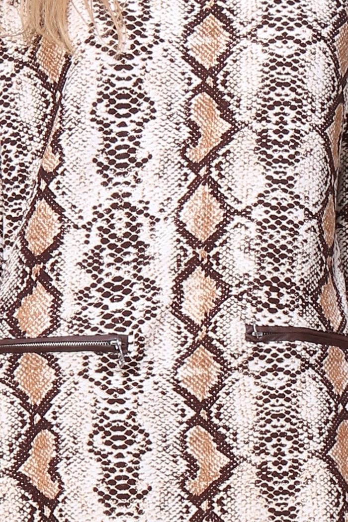 Käärmekuvioinen tunikamekko