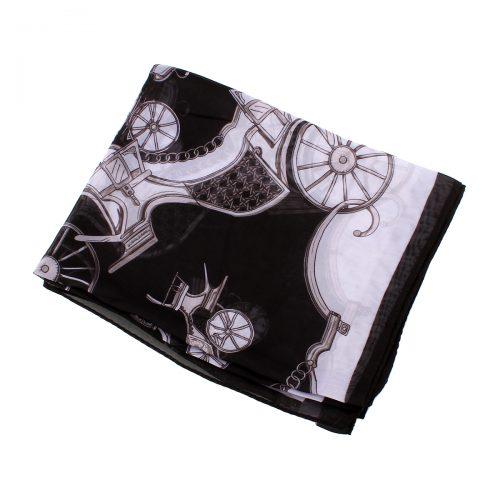 Mustavalkoinen kuviohuivi