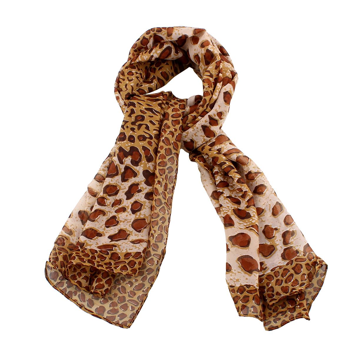 Ruskea leopardihuivi