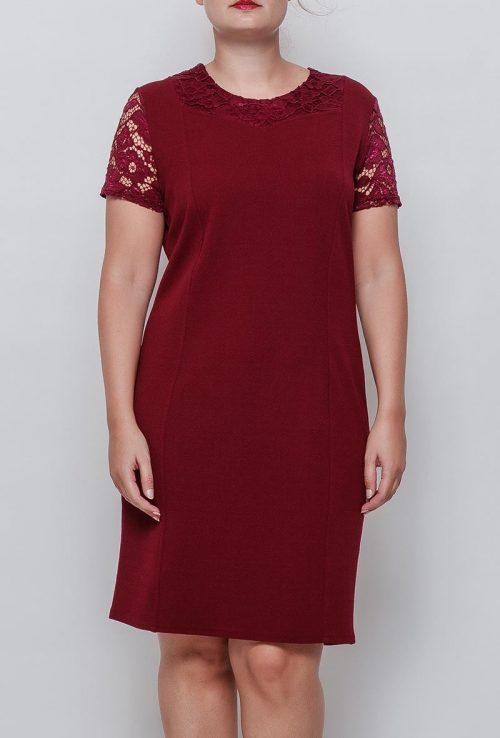 Viininpunainen mekko